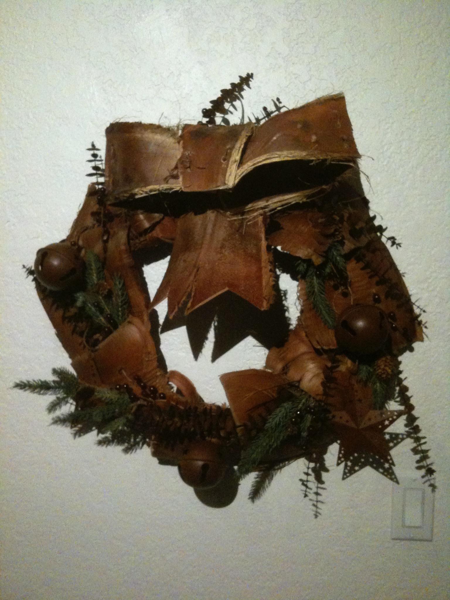 Palm Bark Wreath