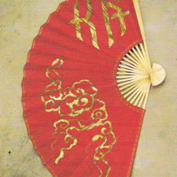 KÀ Fan hand painting