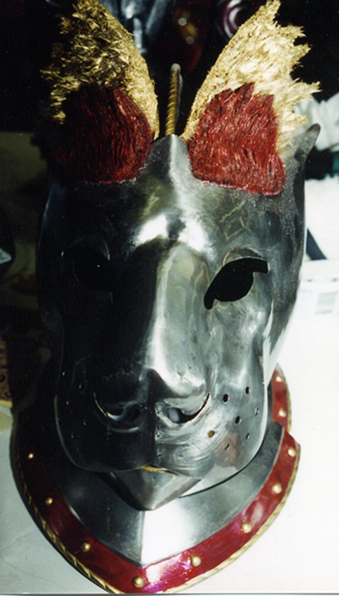 Lion Helment painting