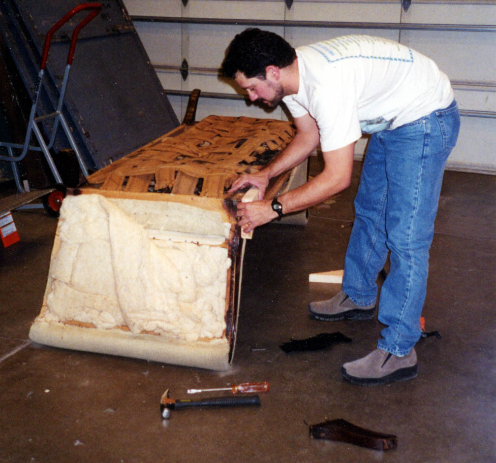 Sofa reupholstery step 1
