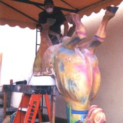'O' Carousel Horse reconstruction