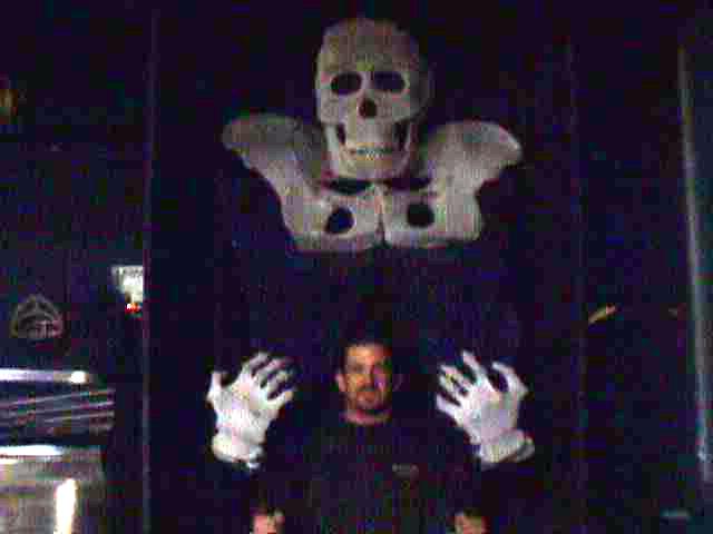 'O' skeleton puppet sewing
