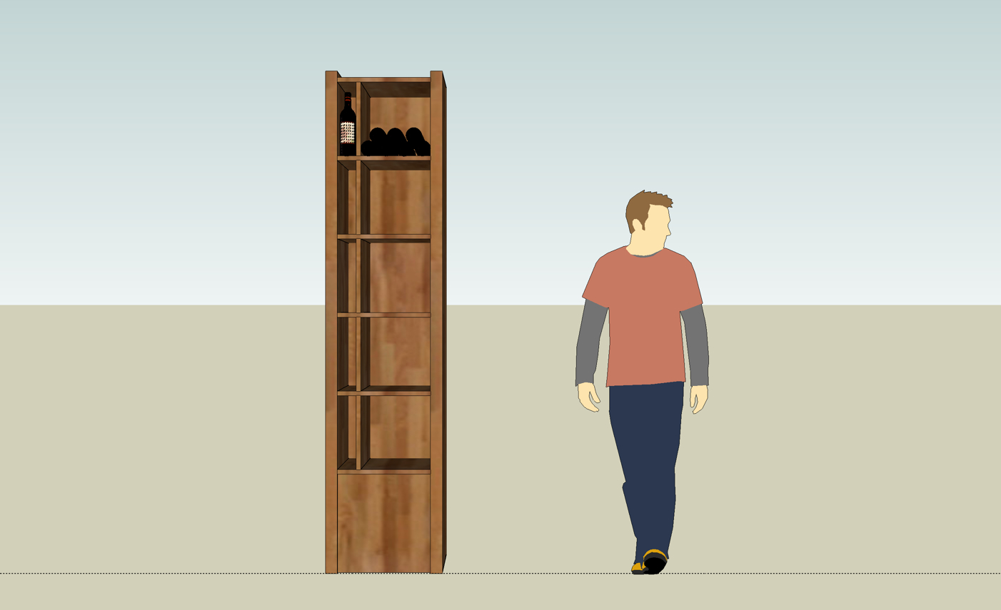 Wine shelf concept