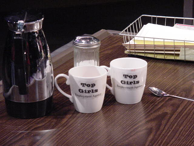 Office props for 'Top Girls'